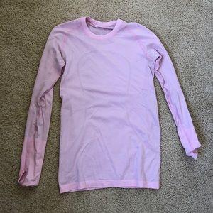 Pink long sleeve lululemon shirt swiftly tech